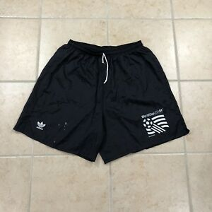 79ab284a35 Details about RARE Vintage 1994 Adidas USA World Cup Soccer Shorts Black  Mens Size Large L 94'