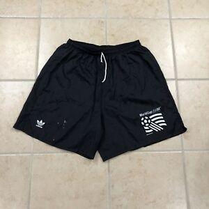 0c9abe7963bc RARE Vintage 1994 Adidas USA World Cup Soccer Shorts Black Mens Size ...