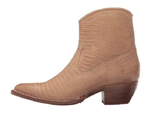 New in Box Womens Frye Frye Frye Sacha Short Boots Natural Lizard Embossed Size 6   378 b39b95