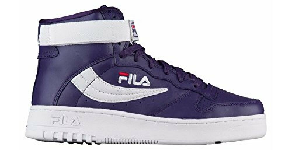 Fila Men's FX-100 Hightop Purple/White/Red Sneakers Shoes The latest discount shoes for men and women