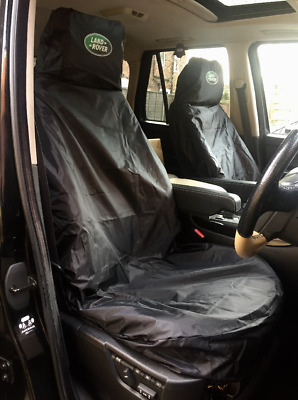 BLACK LAND ROVER DEFENDER 90 PREMIUM CAR SEAT COVERS PROTECTORS