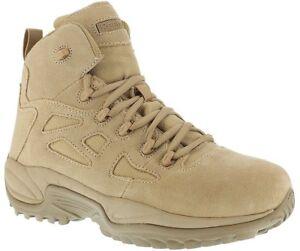 Reebok-RB8695-Men-039-s-Desert-Tan-6-034-Side-Zip-Rapid-Response-Stealth-Tactical-Boot