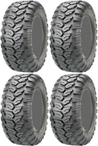 Four-4-Maxxis-Ceros-ATV-Tires-Set-2-Front-26x9-14-amp-2-Rear-26x11-14-MU07