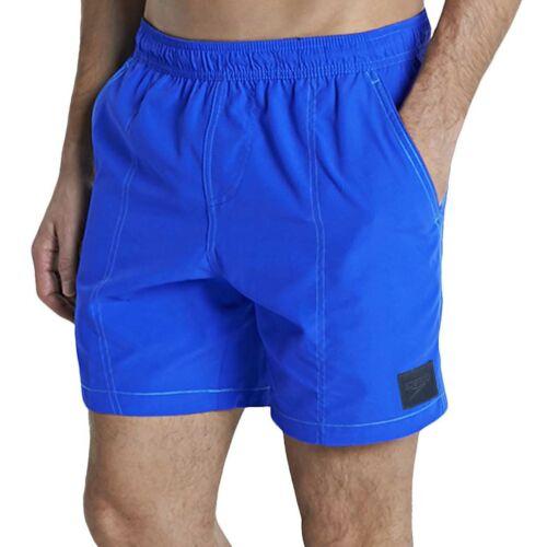 Speedo Mens Checked Leisure Swimming Swim Beach Pool Water Shorts Blue