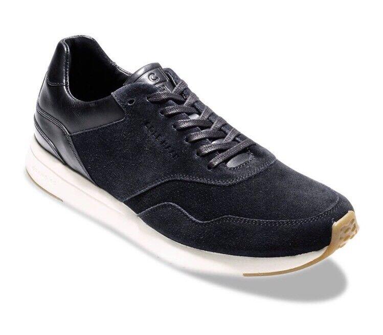 New Cole Haan Men Grandpro Running Sneakers Black Suede Leather 13