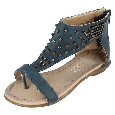 Spot On Girls Toepost Studded Gladiator Sandal