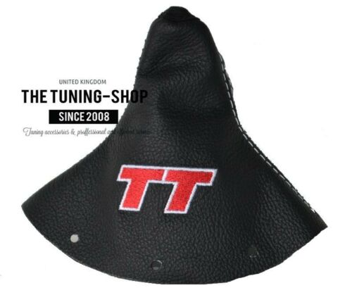 """For Audi TT 1998-2006 Shift Boot Leather /""""TT/"""" Red Embroidery"""