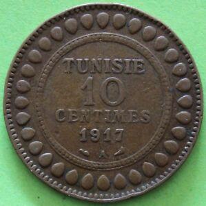 TUNISIE-10-CENTIMES-1917