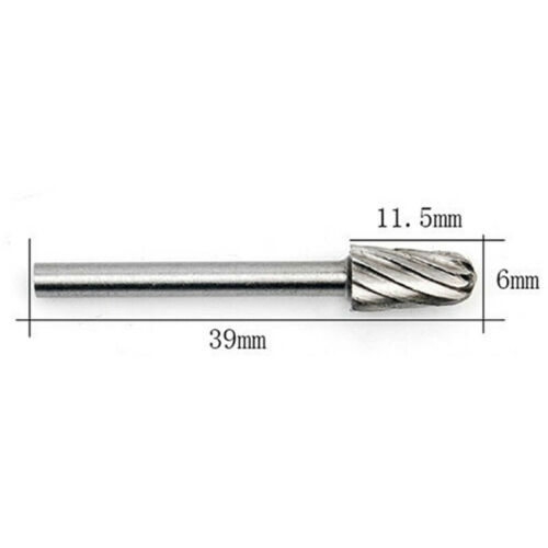 """1//8/"""" Carbide Burrs Hard Metal Drill Bit Cutter File Set For Power Rotary Tool US"""