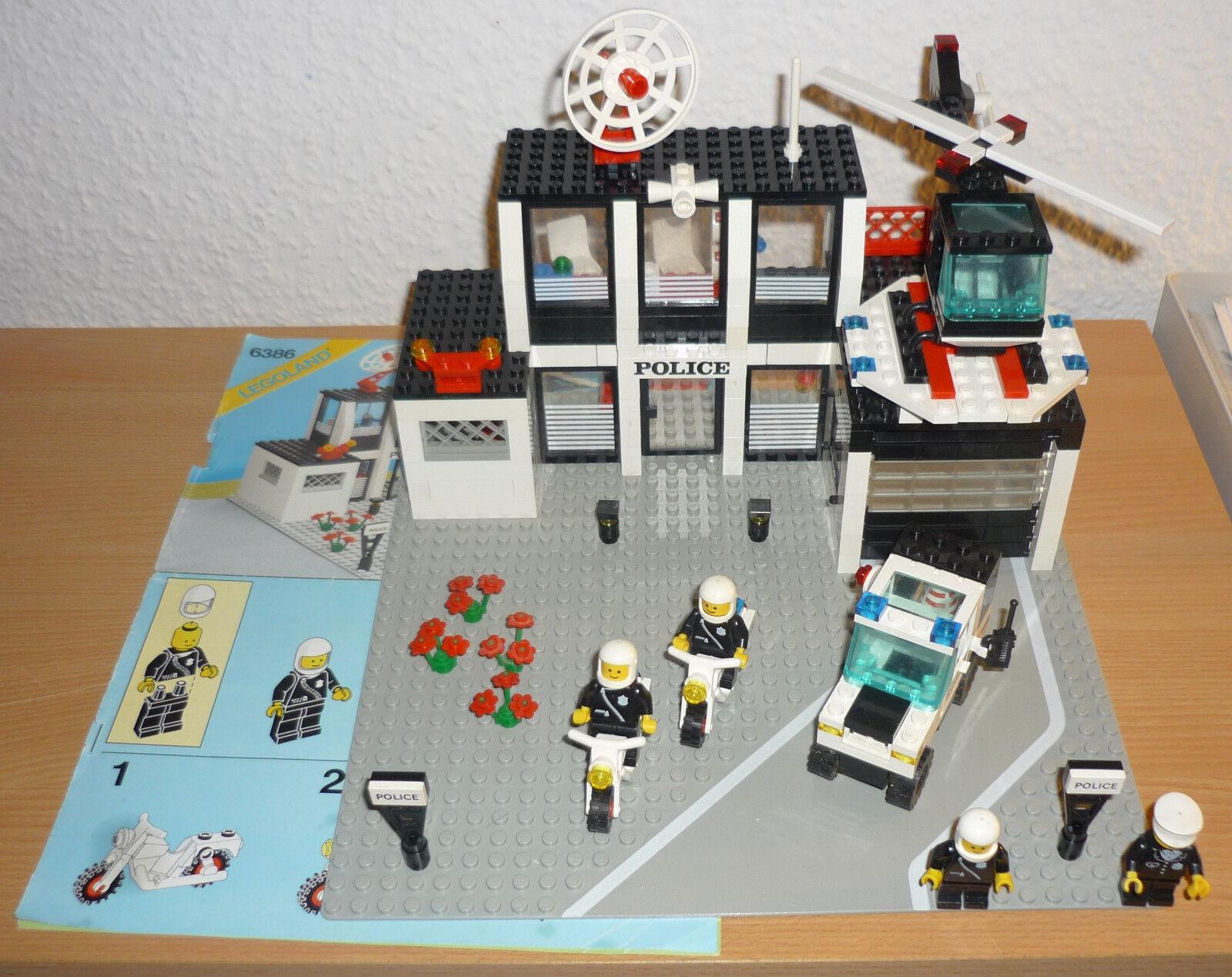 Lego City 6386 Polizeistation v. 1986 + OBA (1)