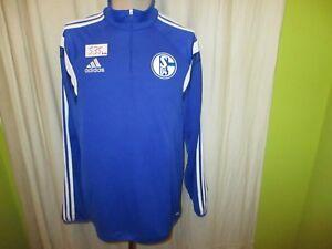 FC-Schalke-04-Adidas-Spieler-Freizeit-Training-Zipper-Jacke-2014-15-Gr-L