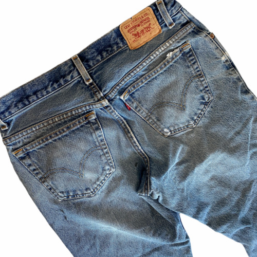 "LEVI/'S BOYS SIZE 14 HUSKY JEANS 33/"" X 28/"" DENIM BLUE JEAN PANTS 550 RELAXED FIT"