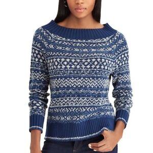 99cf4f0325e Details about CHAPS by Ralph Lauren Women s Cable-Knit Crewneck Sweater  Plus Size Fairisle New