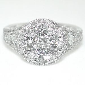 Gorgeous-1-76-Ctw-Ladies-Round-Diamond-Halo-Engagement-Wedding-Ring-14k-Gold