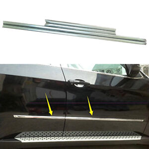 Auto Parts & Accessories Car & Truck Exterior Mouldings & Trim Stainless steel side door body molding cover trim For BMW X5 E70 2008-2013