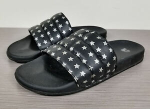 BP-Slide-Sandals-Black-with-Silver-Stars-Womens-Size-10