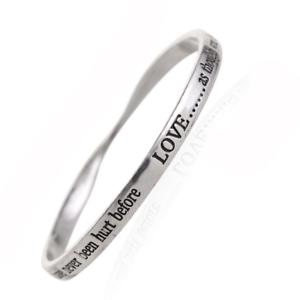 Imperfecto Plata Brazalete con amor como.. venta afirmación Fashion Jewellery