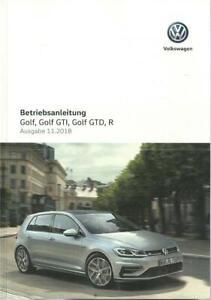 VW-GOLF-7-Golf-GTI-GTD-R-Betriebsanleitung-2018-2019-Bedienungsanleitung-BA