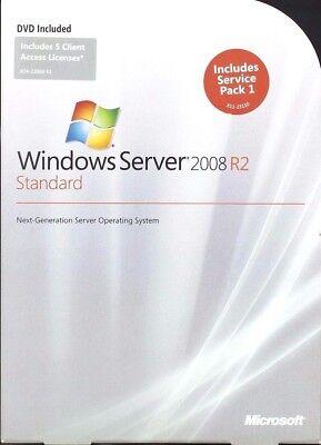 Microsoft Window Server Standard 2008  R2 64Bit 5 Cals 1-4 CPU OEM P73-05128