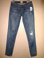 $184 Dylan&george Cara Skinny Medium Vintg Destroyed Distress Jeans 26 Fits 25 0