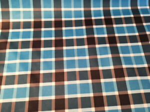 Details about Blue Plaid PUL fabric for nappies & wetbags - price per fat  quarter 50x75cm