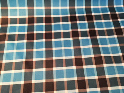 Price Per Fat Quarter 50x75cm High Quality Goods Crafts Fabric Blue Plaid Pul Fabric For Nappies & Wetbags