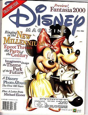 Disney Magazine Fall 1999 Epcot Party Fantasia 2000 Michael Eisner | eBay