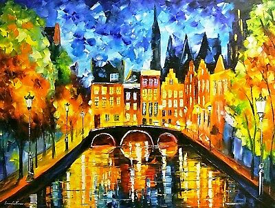 LEONID AFREMOV ART POSTER 24x36-11100 VENICE GRAND CANAL