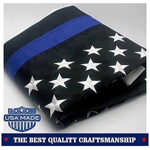 Delgada línea azul rojo USA American Flag 3 x5  ft honrar agentes de la ley