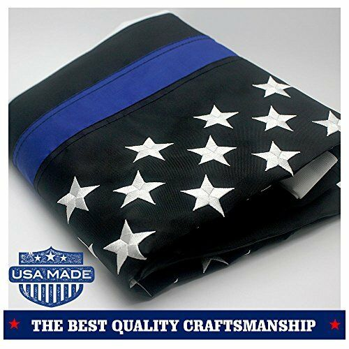 """Thin Blue//Red Line USA American Flag 3/""""x5/"""" ft Honouring Law Enforcement Officers"""