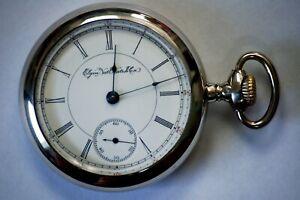 Nice 1895 Elgin 18s 17j Gr. 82 Model 3 Adjusted Low Production Pocket Watch