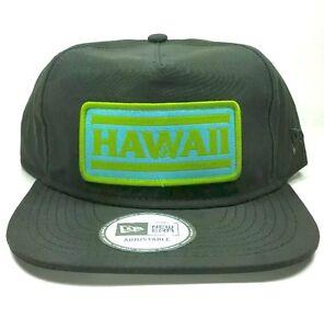 Hawaii-Pro-Patch-gray-Cap-Volcom-Hawaii-New-Era-Cap-Hawaii-Hut-Grau-Snapback-Hi
