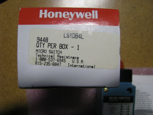 5930-01-396-2535 HONEYWELL LIMIT SWITCH LSYDB4L NSN