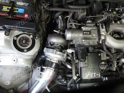 Turbo Kit GS300 SC300 SUPRA 2JZGE 2JZ-GE T4 T70 DOWNPIPE OIL INTAKE FILTER  BLUE