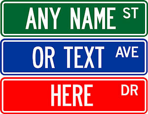 Personalized Street Signs >> Details About Personalized Custom Street Sign 6 X24 2 Sided Aluminum