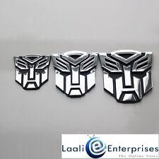 Transformers Autobots 3D Chrome Car Badge Emblem Sticker for Home/Office/Laptop