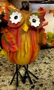 Harvest Owl Turkey Fall Thanksgiving Decoration Table Centerpiece Owl Decor