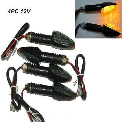 4x Universal Motorcycle Motorbike Turn Signal Indicator LED Light Lamp 12V Amber