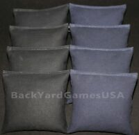 Cornhole Bean Bags Black & Navy All Weather Bags