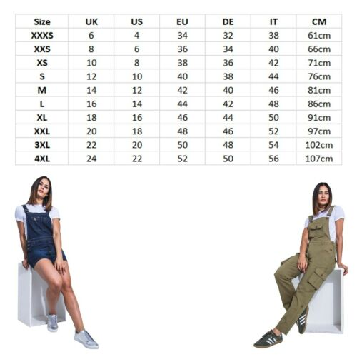 Embroidered Denim Dungarees Slim Fit Ladies Distressed Stonewash Overalls with