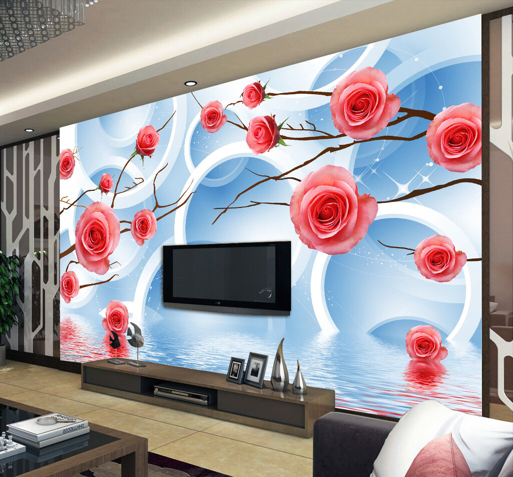 3D Flowers And Rings 71 Paper Wall Print Wall Decal Wall Deco Indoor Murals