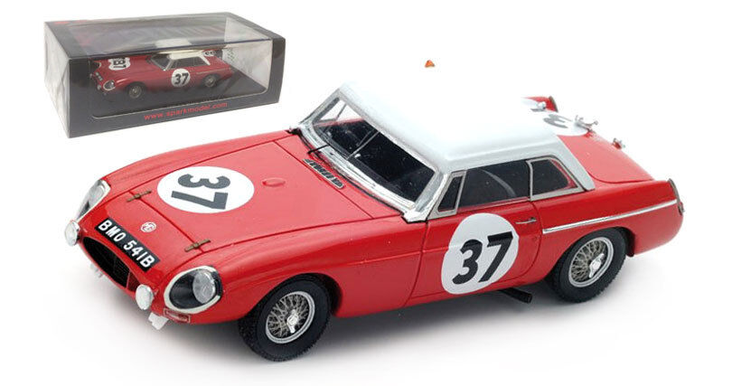 SPARK s5078 MG B rigide  37 19th Le Mans 1964-Hopkirk Hedges 1 43 Scale