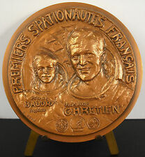 Médaille num 92/100 spationaute astronaut Chrétien Baudry Soyouz 1982 79mm medal