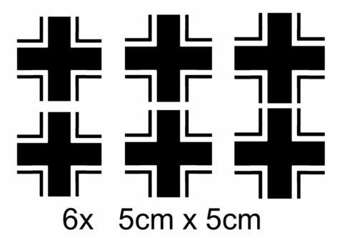 6x Balkenkr Luftwaffe Wermacht Flugzeug RC Auto Aufkleber Sticker Kreuz Model