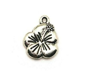 20 or 50 BULK pcs Silver Daisy Flower Charms US Seller AS280 4