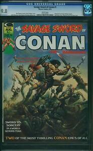 Savage-Sword-of-Conan-1-marvel-1974-Boris-Cover-CGC-9-8-Comme-neuf-Highest-Graded