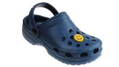Las chicas, chicos zuecos Beach Summer obstruir Surf Zapatos Azul Marino Reino Unido 4 - 2 Nuevas