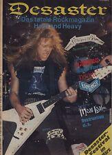 Rare German Metal Mag DESASTER No. 1,Jan. 1985:Metallica,Destruction,Joan Jett..
