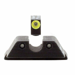 trijicon gl101y hd night sight set yellow front outline for glock