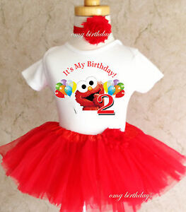 Image Is Loading Elmo Red Rainbow Balloons 2nd Second Birthday Shirt